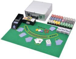 vidaXL Set de poker/blackjack cu 600 de jetoane cu laser din aluminiu (80186) - vidaxl