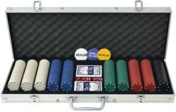 vidaXL Set de poker cu 500 de jetoane din aluminiu (80180) - vidaxl
