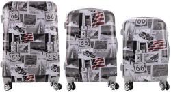 ABS ROAD 66 - 3 részes bőrönd szett (LC-054-66)