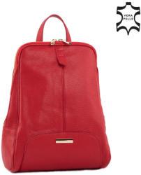"""Lewitzky Valódi bőr női hátizsák """" (NT_321_red)"""