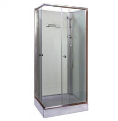 Leziter Polo II 80x80x195 cm szögletes zuhanykabin zuhanytálcával