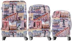 ABS NewYork-Statue - 3 részes bőrönd szett (LC-055)