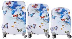 ABS BlueFlowers - 3 részes bőrönd szett (LC-090)