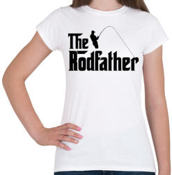printfashion The Rodfather Fekete - Női póló - Fehér