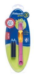 Pelikan Roller Griffix, Pentru Dreptaci, Culoare Roz, 2 Rezerve, Blister, (928119)