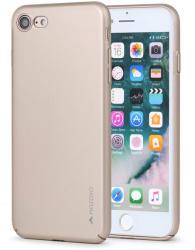 Meleovo Carcasa iPhone 8 / 7 Meleovo Metallic Slim 360 Gold (culoare metalizata fina) (MLVMSIPH8GD)