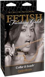 Pipedream Нашийник с повод Fetish Fantasy Gold (sw-3527)