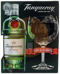 Tanqueray London Dry Gin 43.1% 0.7L - pohárral, díszdobozban