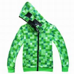 Minecraft Creeper jelmez ruha kapucnis zöld pulóver kardigán (M)