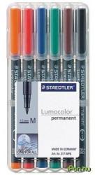 STAEDTLER 317 alkoholos marker vegyes színekben 4db
