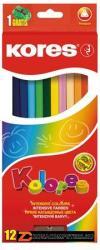 KORES TRIANGULAR színes ceruza háromszögletű 12db