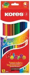 KORES DUO kétvégű színes ceruza 12 db