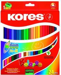 KORES DUO kétvégű színes ceruza 24db