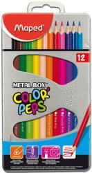 Maped COLOR`PEPS színes ceruza fém dobozban 12 db
