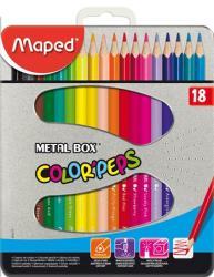 Maped COLOR`PEPS színes ceruza fém dobozban 18 db