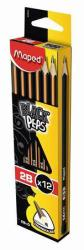 Maped BLACK`PEPS grafitceruza radírral 2B 12db