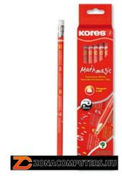 KORES MATHMAGIC grafitceruza radírral HB 12db