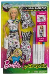 Mattel Barbie Crayola színezős baba