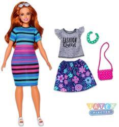 Mattel Barbie Fashionista Vörös hajú babacsíkos ruhával