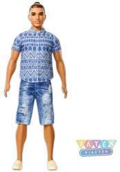Mattel Barbie - Fashionistas - Barna hajú Ken kék ingben