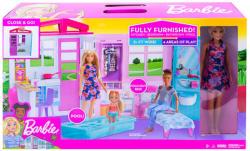 Mattel Barbie tengerparti háza babával (FXG55)