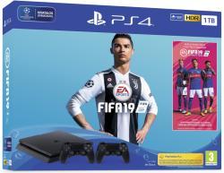 Sony PlayStation 4 Slim 1TB (PS4 Slim 1TB) + FIFA 19 + DualShock 4 Controller
