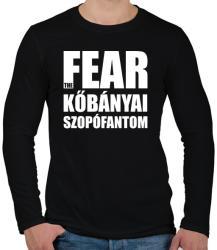 printfashion Fear the kőbányai szopófantom - Férfi hosszú ujjú póló - Fekete