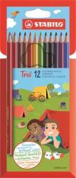 STABILO Trio háromszög alakú színes ceruza 12 db