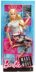 Mattel Barbie - Hajlékony jógababa szőke hajjal (FTG80)