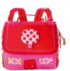 Lilliputiens Ghiozdan roz pentru fetițe, Lilliputiens, Căsuța din turtă dulce