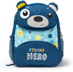 Eurekakids Ghiozdan albastru cu ursuleţ, Strong Hero
