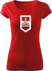 WARAGOD Tricou de damă Army Girl, roșu 150g/m2