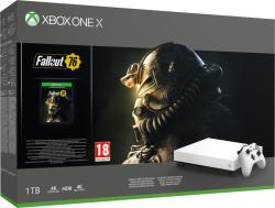 Microsoft Xbox One X 1TB Robot White Special Edition + Fallout 76