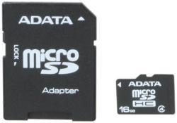 ADATA MicroSDHC 16GB C4 AUSDH16GCL4-RA1