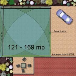 Irritrol Kit irigare gazon 121-169 m2 Irritrol cu programator exterior