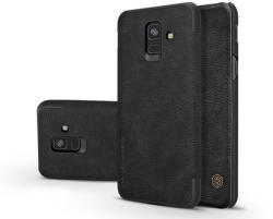 Nillkin Qin Samsung Galaxy A6 (2018) Flip Bőrtok - Fekete (NL157773)