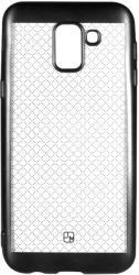 Just Must Husa Samsung Galaxy A6 (2018) Just Must Silicon Electroplate Black (model mat perlat prin electropla (JMELA600BK)