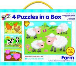 Galt Set 4 puzzle-uri Animale de la ferma (1003913)