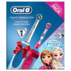 Oral-B Vitality Cross Action + Vitality Kids Frozen Periuta de dinti electrica