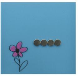 DESQ TABLA MAGNETICA DIN STICLA BLEU 35x35 cm, DESQ 4250 bleu Tabla magnetica sticla (960936V)