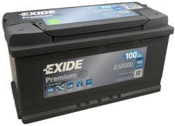Exide Premium 100Ah 900A Jobb+ (EA1000)