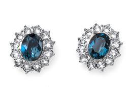 Oliver Weber Fülbevaló Swarovski kristályokkal Oliver Weber Regal small blue