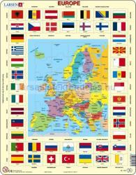 Larsen Európa zászlókkal 70 db-os KL1