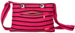 Zip-it Geanta de umar 30 cm monster roz cu fermoar negru Zipit ZBDM-3 (ZBDM-3)