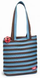 Zip-it Geanta de umar Zipper, 28 cm, albastru cu fermoar maro, Zipit ZBN-4 (ZBN-4)