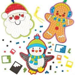 Baker Ross Mozaikkép készítő szett, karácsonyi 5 db-os (KJK-BAKERAF794)