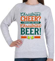printfashion Karácsonyi sör - Női pulóver - Sport szürke