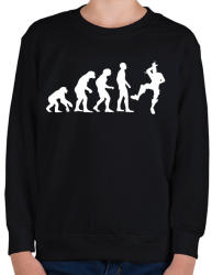 printfashion Fortnite evolúció - Gyerek pulóver - Fekete