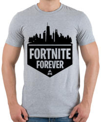 printfashion Fortnite Forever - Férfi póló - Sport szürke