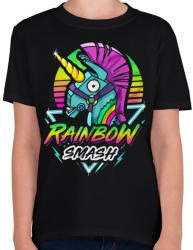 printfashion Fortnite Llama Rainbow - Gyerek póló - Fekete